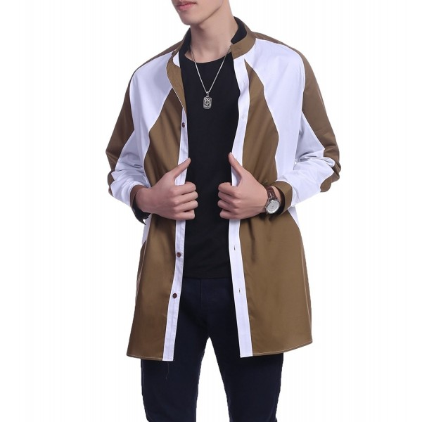 COOFANDY Sleeve Stand Collar Jacket