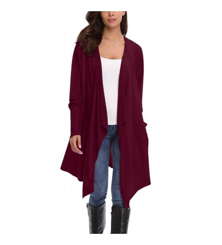 Abollria Womens Cardigan Sweaters Pockets