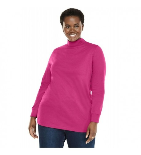 Woman Within Perfect Mockneck Sleeves