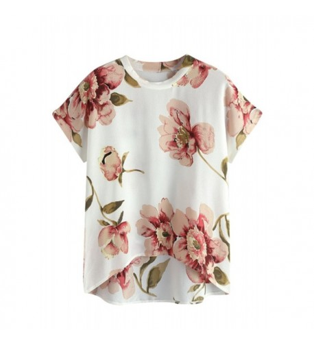 MakeMeChic Womens Sleeve Casual Floral