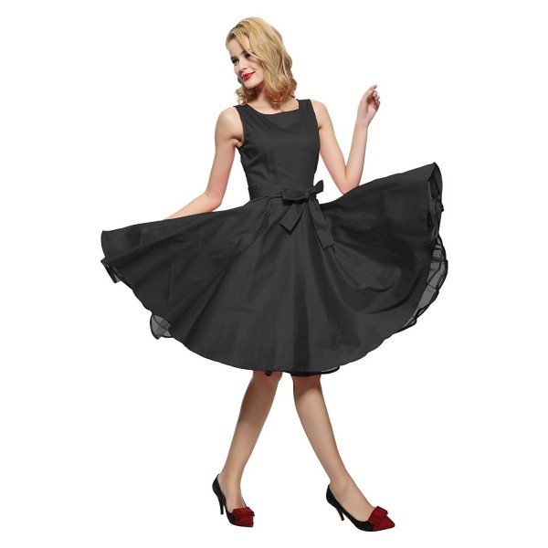 3e1c035273f 50s Vintage Pinup Cocktail Swing Rockabilly Ball Gown Party Dress ...