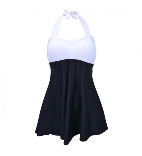 Colorblock Skirtini Swimsuit Boyshort Swimdress