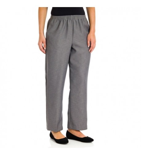 Alfred Dunner Pull Pants Gray