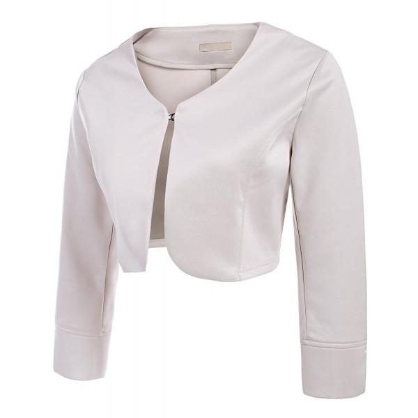 Womens Sleeve Cropped Bolero Cardigan