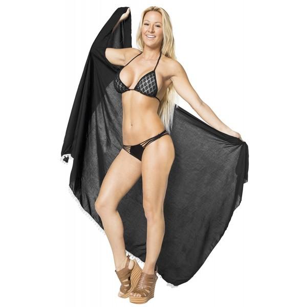 ea2ce51772 ... Wrap Bikini Cover up Rayon Skirt Swimsuit Swimwear - Black -  CM124Q203K1. Leela Beach Sarong Womens Swimwear