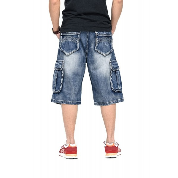 OLRAIN Multi Pockets Washed Shorts