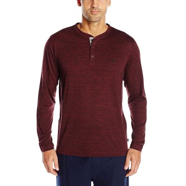 Nautica Sleeve Henley Pajama Burgundy
