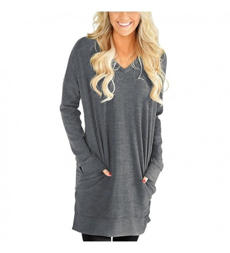Roshop Womens Casual V Neck Sleeves