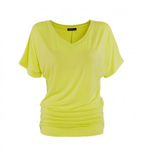 PattyCandy Yellow V Neck Shirring Yellow XL