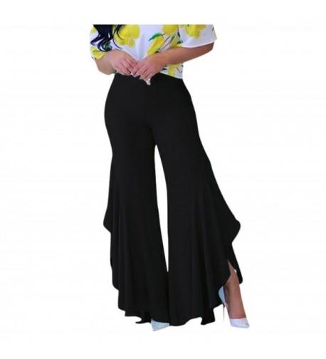 GUOLEZEEV Womens Flared Bottom Pants