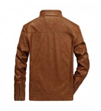 Men's Faux Leather Jackets Outlet Online