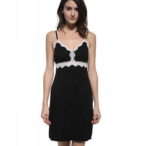 Mobisi Spaghetti Nightgown Contrast Nightwear