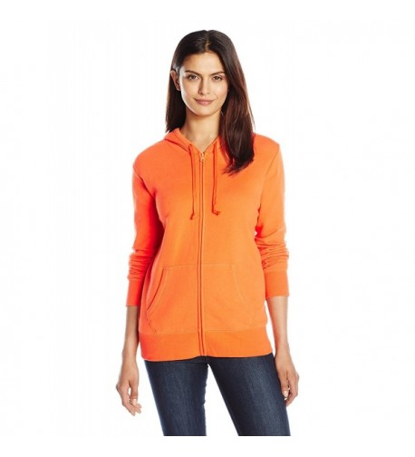 Life Womens Painted Hoodie Orange