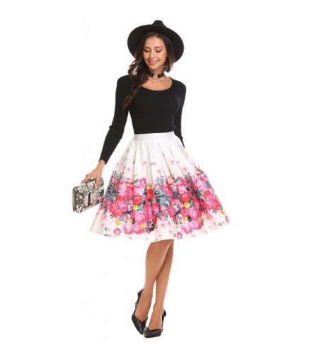 Shine Christmas Stretch Floral Skirt