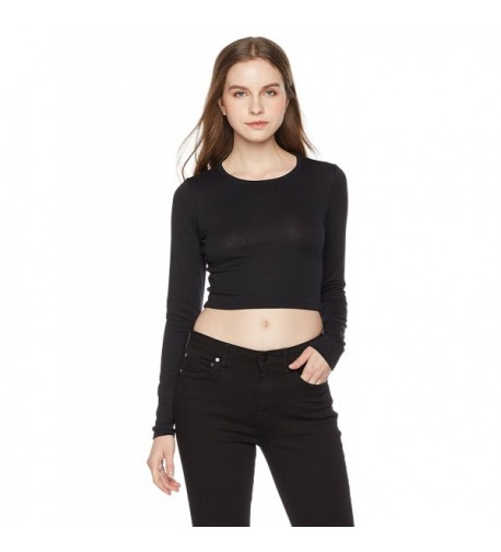 Something Everyone Womens Marled Cropped