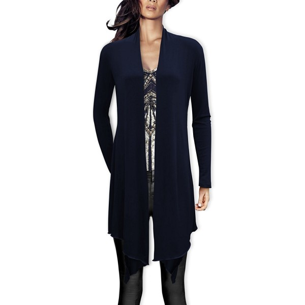 BlackButterfly Drape Waterfall Cardigan Midnight