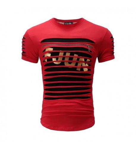 FJUN Sleeve stripe bronzing T Shirts