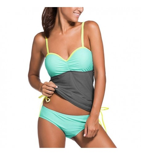 Awesomes Womens Swimsuit Colorblock Tankini