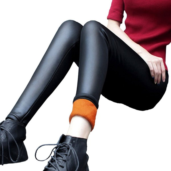 Weigou Leggings Leather Winter Trousers