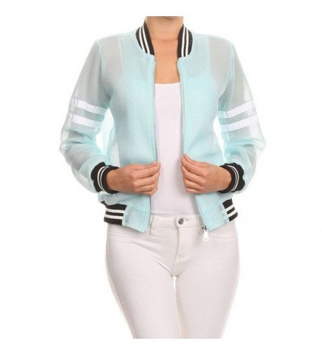 makeitmint Womens Zip Up Summer YJZ0019_Aqua