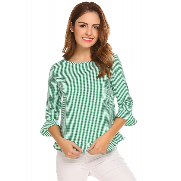 da5f27a5 Zeagoo Womens Casual Shoulder Stripe. . Zeagoo Womens Casual Shoulder  Stripe. Designer Women's Blouses Outlet Online. 2018 New Women's Button-Down  Shirts ...