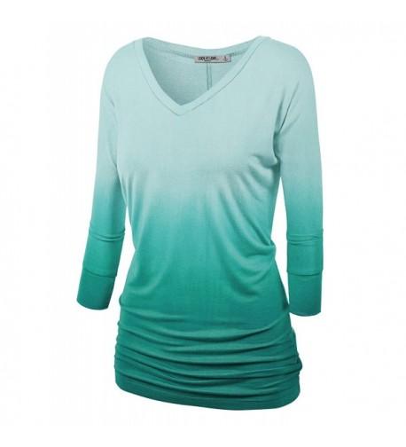WT1113 Womens Sleeve Dolman Shirring