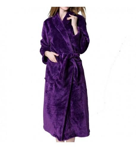 WITION Womens Luxurious Bathrobe Pockets