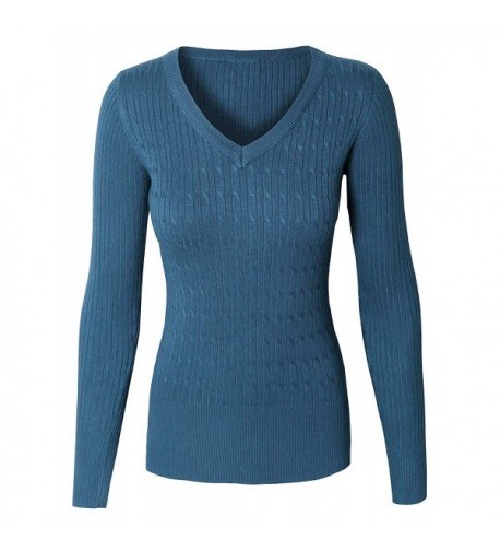 makeitmint Twisted Pullover Sweater YISW0001 TEAL SMALL