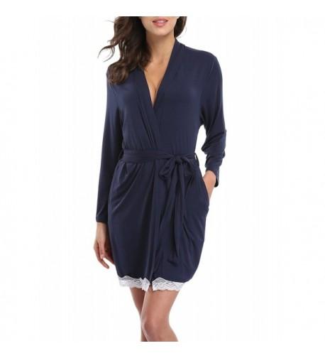 1STMALL Womens Kimono Short Bathrobe
