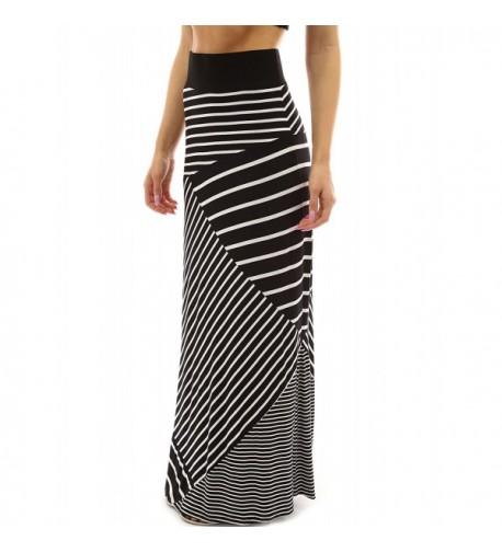PattyBoutik Striped Geometric Length Skirt