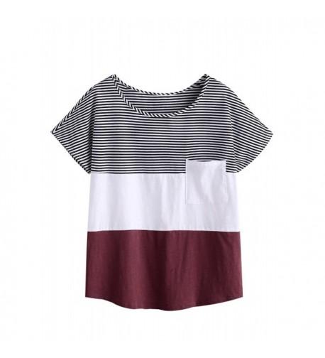 MakeMeChic Womens Oversized Striped Sleeve