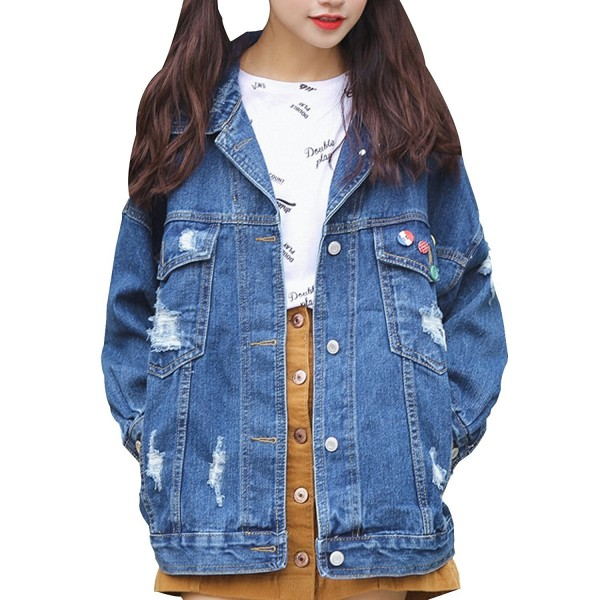 MorySong Womens Oversize Boyfriend Jacket