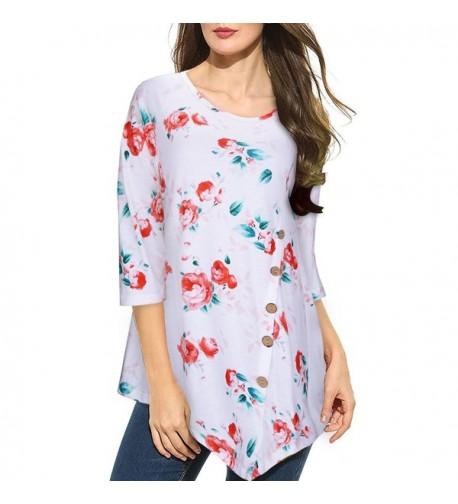 STYLEWORD Womens Three Quarter Sleeve T Shirt