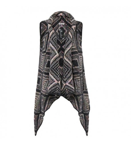 DRESSOLE Sleeveless Cardigan Women Sweater