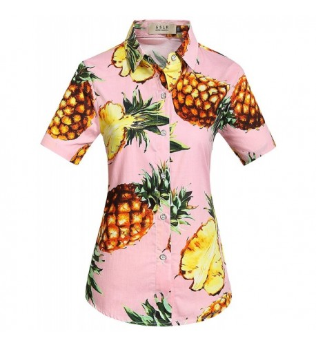 SSLR Pineapple Blouses Hawaiian Tropical
