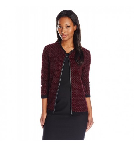 Nouveaux Leather Novelty Cardigan Sweater