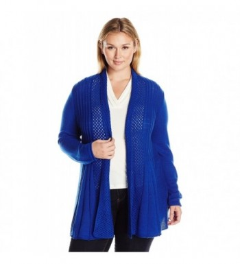 Notations Womens Sleeve Sweater Cardigan