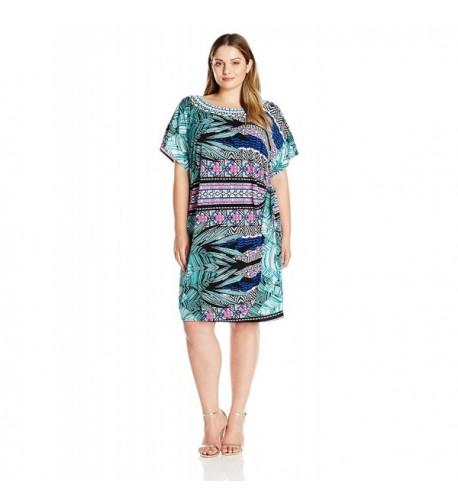 Robbie Womens Print Dress Purple