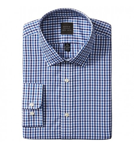 Oxford NY Gingham Spread Collar