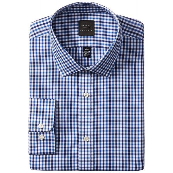 Oxford NY Gingham Spread Collar