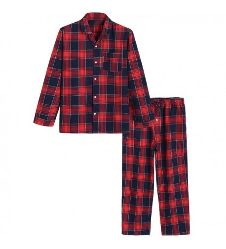Latuza Cotton Pajama Plaid Sleepwear