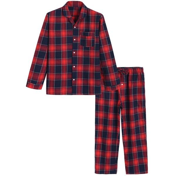 Latuza Cotton Pajama Plaid Sleepwear