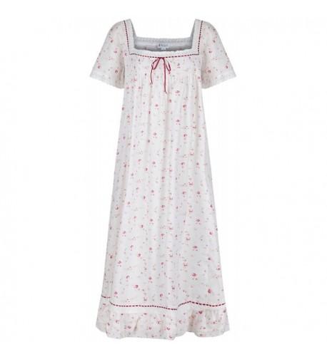 100 Cotton Short Sleeve Nightgown