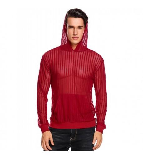 Jinidu Strip Hooded Pullover Hoodie