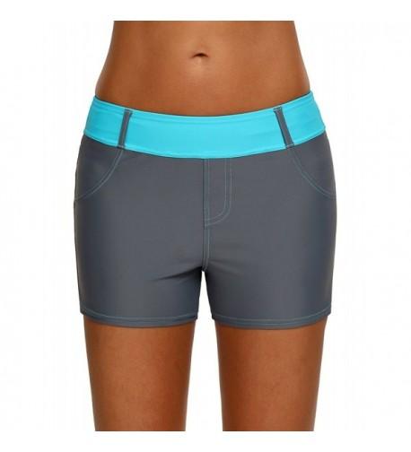 Gludear Waistband Swimsuit Bottom Shorts