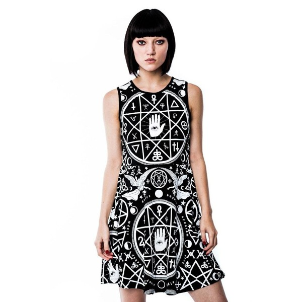 Killstar Psychobilly Wicca Skater Dress