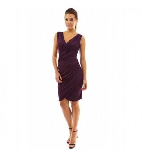 PattyBoutik Womens Ruched Night Purple