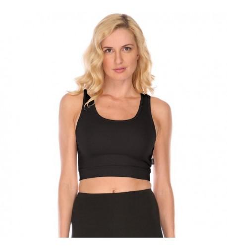 Black Bra Sporty Supima Cotton