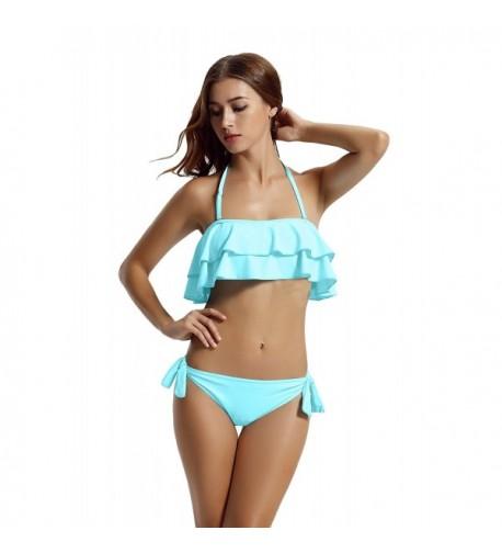 zeraca Womens Cheeky Bandeau Bathing