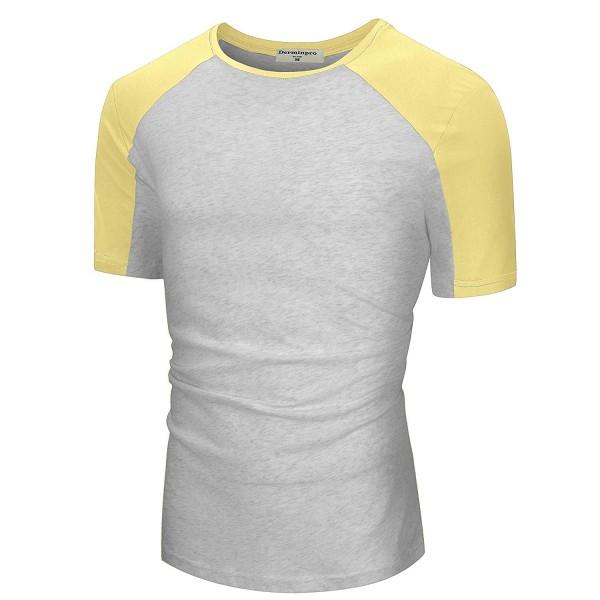 Derminpro Mens T Shirt Yellow Gray XX Large